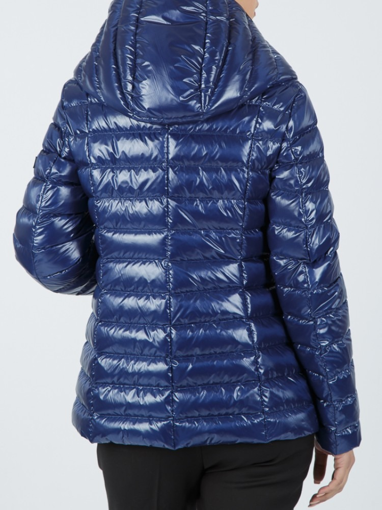 IT169 - Midnight blue down jacket with hood