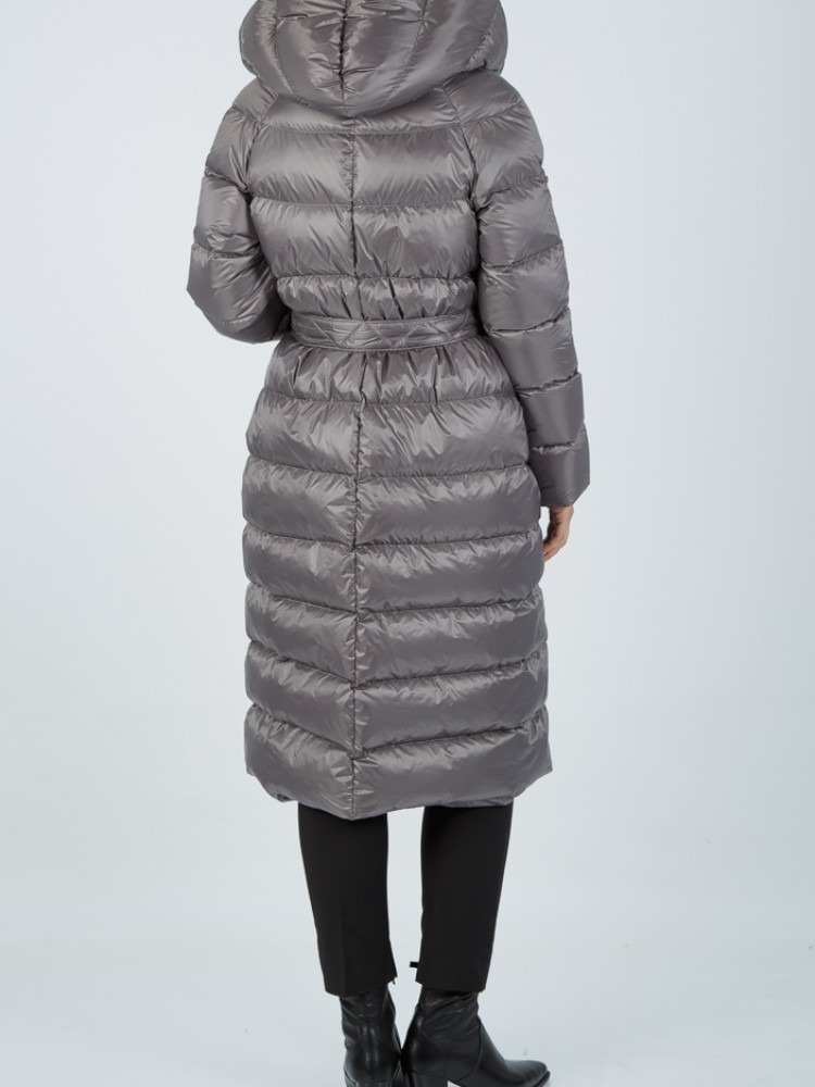 ARETI - Grey down coat with hood