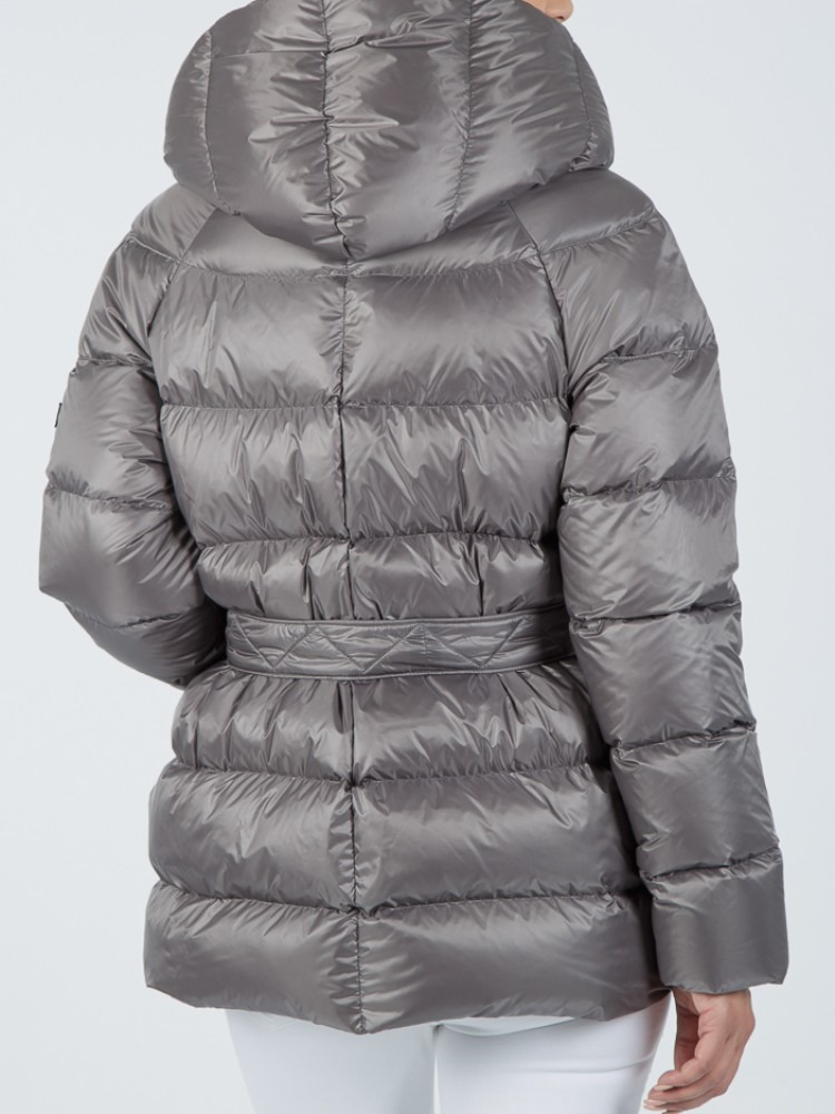 ARETI - Light grey down jacket with hood