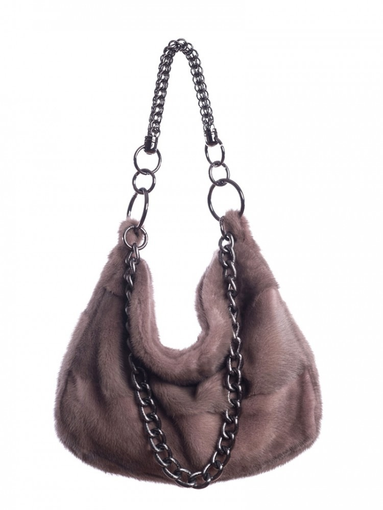 Shoulder Bag - 100% Genuine Fur