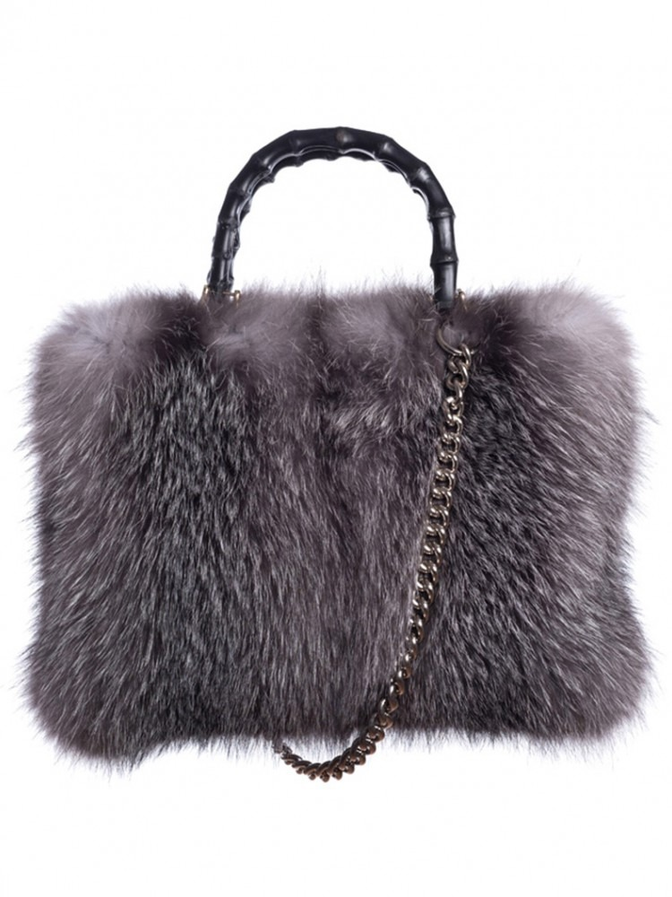 Tote Fox Bag - 100% Genuine Fur
